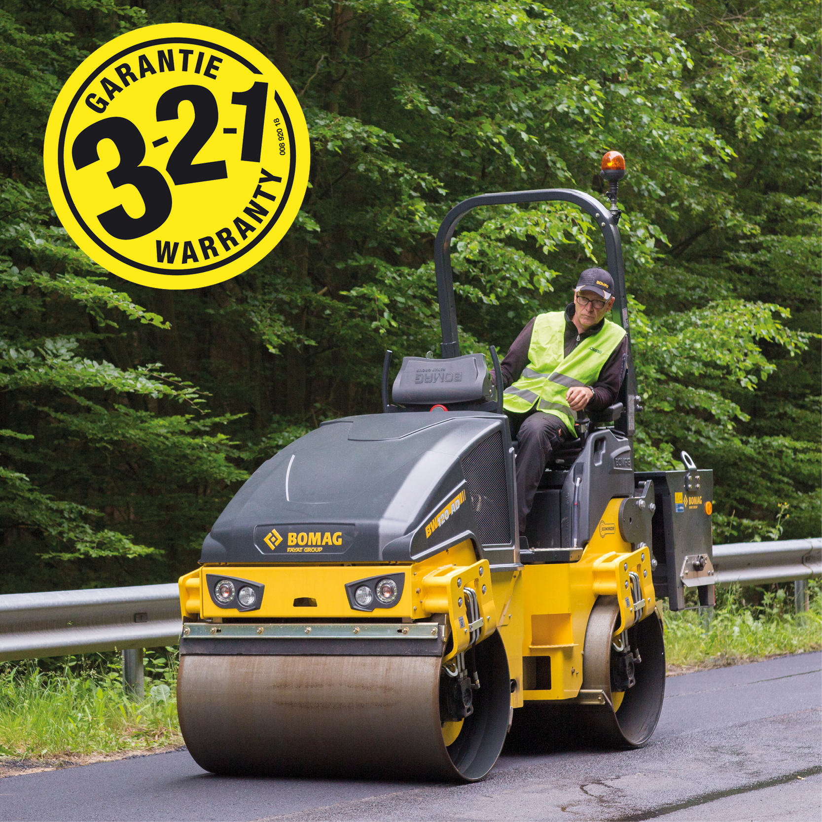 BOMAG BW120 Roller with 3-2-1 warranty